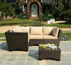 W Unlimited Infinity Collection Outdoor Garden Patio Sectional Furniture 5PC...