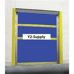 NEW! Motorized Roll-Up Bug Dock Door with PVC Coated Blue Vinyl Panels 10 x 10!!