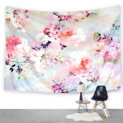 Colorful Flowers Tapestry Floral Print Wall Hanging for Home Decor US LOCAL SHIP $13.29