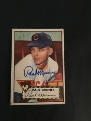 1952 TOPPS BASEBALL #127   PAUL  MINNER  AUTO.  VG FROM THE MASTRO COLLECTION