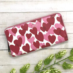 NWT Kate Spade Yours Truly Lacey Wallet Heart Party Red amp; Pink MSRP $178 $139.95