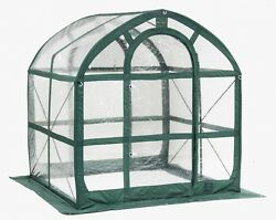 Portable Greenhouse FlowerHouse SpringHouse Clear 6 ft Pop Up Small Backyard