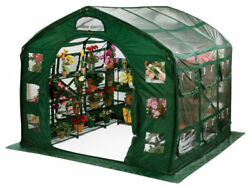 Portable Greenhouse FlowerHouse FarmHouse Clear PVC 9 ft Square Pop Up Garden