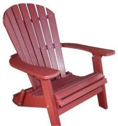 Phat Tommy Recycled Poly Resin Folding Deluxe Adirondack Chair – Durable and...