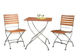 Phat Tommy Outdoor Patio & Garden Galleria Square Table w 2 Folding Chairs...