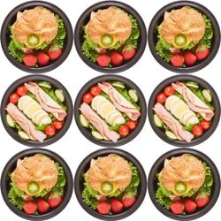 Meal Lunch Prep Storage Microwave Containers w Lids 28 oz. Plastic 10