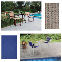 3 Piece Patio Furniture Set Table High Chairs Garden Outdoor Home Lawn Dining