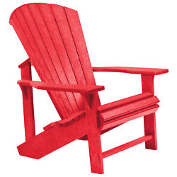Recycled Plastic Adirondack Chair Red 32