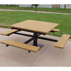 4' T-Table Recycled Plastic Cedar Lot of 1