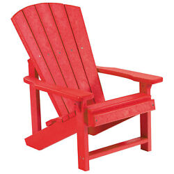Recycled Plastic Kids Adirondack Chair Red 24