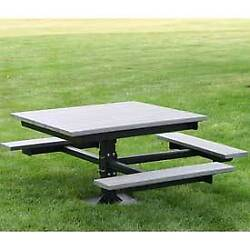 Ada T-Table Recycled Plastic 4 Ft Gray Lot of 1