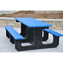 Recycled Plastic 8 Ft. Park Place Picnic Table Blue Lot of 1