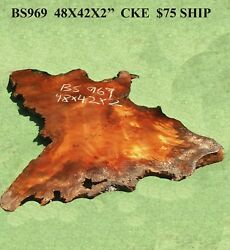 Rustic Redwood Burl Slab with live edges - table slab - table top - bs969
