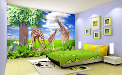 3D White Could Tree Animal Wall Paper Wall Print Decal Wall AJ WALLPAPER CA