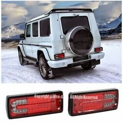 Rear Bumper LED Tail Light Lamp Red Smoke Lens For 02-06 Mercedes G-Class W463