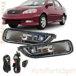 For 03-04 Toyota Corolla Fog Lights Bumper Lamps Kit OE Style Clean $39.80