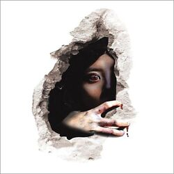 CREEPY SCARY GIRL IN WALL 3D Removable 22.5quot; x 14.5quot; Die cut Wall Decal #1499 $11.99