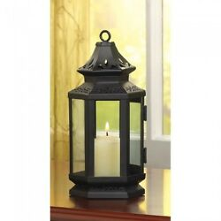 Lot of 10 Black Stagecoach Candle Lanterns Home Decor Wedding Centerpieces $129.95