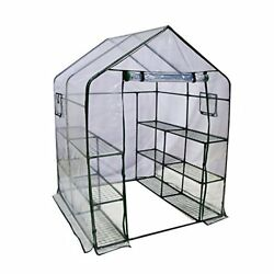 Abba Patio Mini Walk-In Greenhouse 6 Shelves Stands 3 Tiers Racks Portable Green