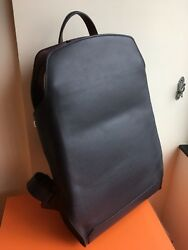 New Hermes Citypack 27 Backpack Bag Verso Indigo Bordeaux shoulder Calf leather