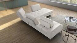 White Genuine Leather Sectional RIGHT SPECIAL ORDER VIG Estro Salotti Voyager