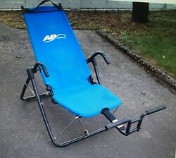 Ab Lounge 2 Lounger Fitness Exercise Abdominal Abs Workout Chair excellent