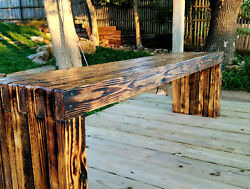 Handcrafted -Park Quality- Garden Bench - Solid Wood - Heavy 100 year life span!