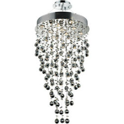 2006 Galaxy Collection Chandelier D:20in H:36in Lt:9 Chrome Finish (Swarovski...