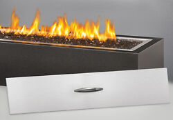 Napoleon GPFL48MH Outdoor Patio Fire Table Brushed Stainless Steel Crushed Glass