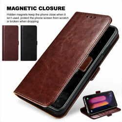 For LG Stylo 3 4 5 Plus Leather Wallet Flip Protective Case Cover Tempered Glass