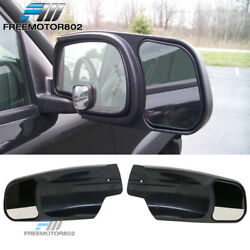 Fits 07-13 Chevy Silverado Sierra Yukon Escalade Towing Mirror Extension Pair