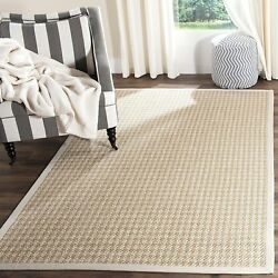 Safavieh Natural Fiber Collection NF472A Hand Woven Light Grey Wool