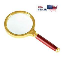 Magnifying Glass 6X Reading Magnifier HANDHELD 2quot; Glass Lens Jewelry Loupe Loop $3.39