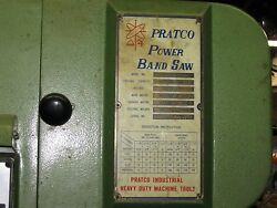 PRATCO VERTICAL POWER BAND SAW - MODEL 300 A + Shed full of metal nuts bolts
