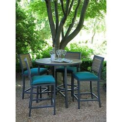 Patio Furniture Outdoor Dining Bistro High Table Sets Chairs Weatherproof Blue