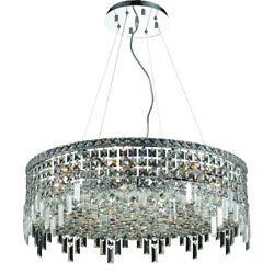 2031 Maxime Collection Chandelier D:28in H:10.5in Lt:12 Chrome Finish (Spectr...