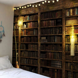 Retro Bookcase Tapestry Wall Hanging Vintage Book Tapestries for Home Room Decor $16.05