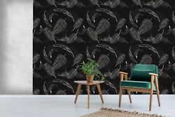 3D Black Feather 740 Wall Paper Print Wall Decal Deco Indoor Wall Murals US