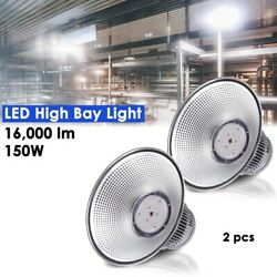 2 Pack 150W Commercial LED High Bay Light Industry Warehouse Light Energy saving