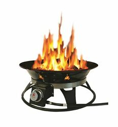 Outland Firebowl 863 Cypress Outdoor Portable Propane Gas Fire Pit with Cover...