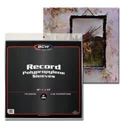 33 RPM 13 Vinyl Record Sleeves Protectors Plastic Poly Holders 2 Mil 100 BCW