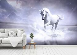 3D White Horse 87 Wall Paper Print Wall Decal Deco Indoor Wall Murals US Summer