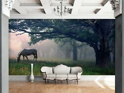 3D Lawn Horse 7110 Wall Paper Print Wall Decal Deco Indoor Wall Murals US Summer