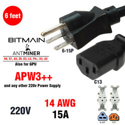 BITMAIN APW3++ 220v HEAVY DUTY Power Cord FOR ALL Antminers PSU and GPU $11.99