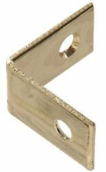 The Hillman Group 851150 1-Inch Solid Brass Corner Brace Bright Brass Fi..