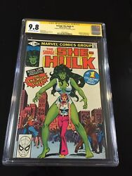 The Savage She-Hulk 1 CGC 9.8 SS STAN LEE ORIGIN & 1ST APP OF SHE HULK