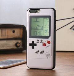 White Playable Tetris Gameboy Phone Case Cover For iPhone X XR XS Max Plus 8 7 6