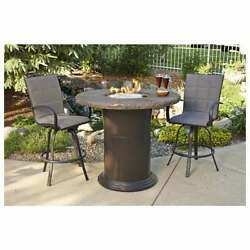 Outdoor Greatroom Colonial Pub Height Fire Pit Table Marbleized Noche Deals!