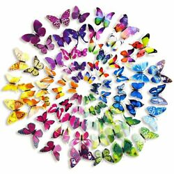 72 Pcs 3D Wall Decal Butterfly Wall Sticker Decals for Room Home Nursery Decor $7.99