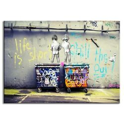 Modern Wall Paintings Banksy Graffiti Art printed Home Decor Pictures Printed On $35.00